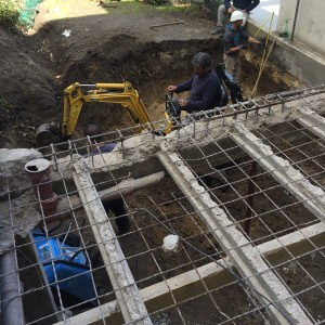 Prises des côtes pour réalisation de coffrages nécessaires aux travaux de reprise en sous oeuvre des fondations existantes