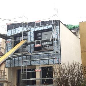 Mise en oeuvre d'un zinc anthracite à joint debout sur la façade et en toiture